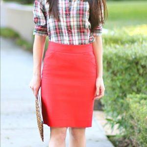 J.Crew Red Pencil Skirt!
